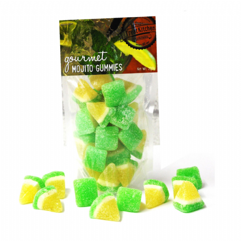 Mojito Gummies Jelly Sweets Pouch - Gourmet Range The Treat Kitchen Confectionery 200g